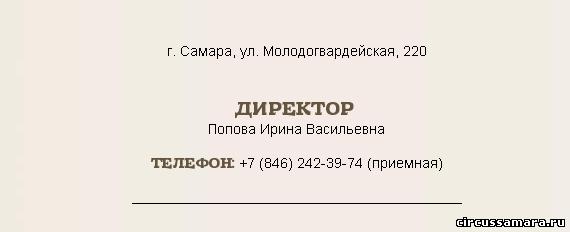 новый директор Самарского цирка